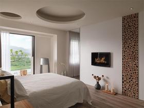 110平米三日式风格卧室效果图