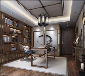 140平米三室两厅中式风格书房效果图