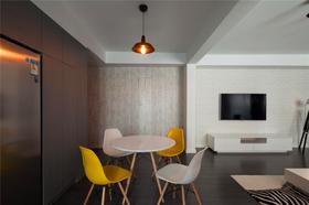 80平米三室两厅北欧风格餐厅图片