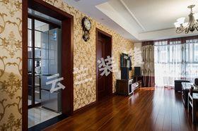 富裕型100平米中式风格走廊图片