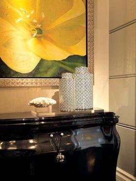 富裕型120平米三室两厅混搭风格客厅设计图