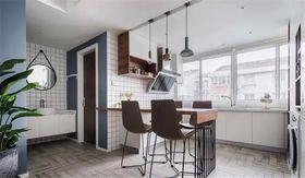 130平米三室兩廳北歐風格餐廳圖片大全