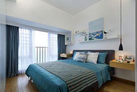 80平米三室两厅北欧风格卧室图片