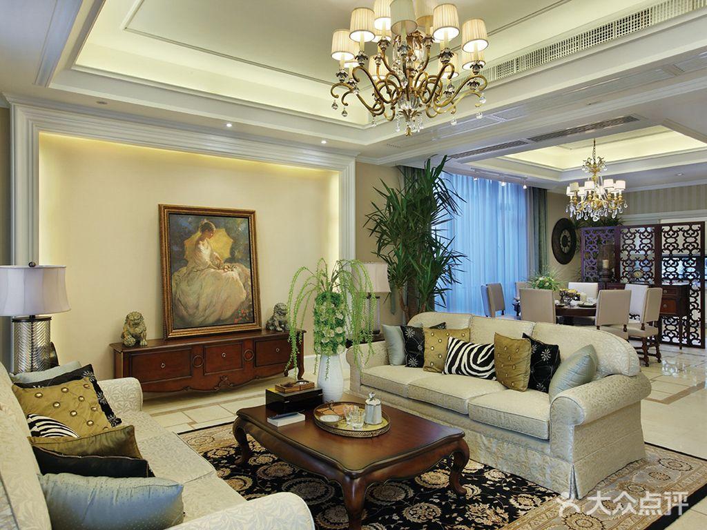豪华型140平米别墅美式风格客厅装修图片大全