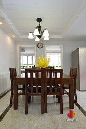 100平米三室兩廳美式風格餐廳裝修效果圖