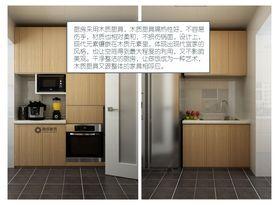90平米现代简约风格厨房装修案例