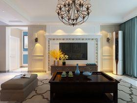 130平米三室两厅美式风格客厅效果图
