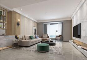 現代簡約風格客廳設計圖
