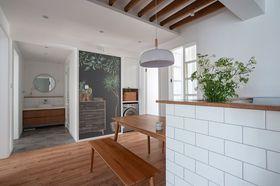100平米三室两厅日式风格客厅装修效果图