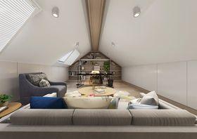 110平米复式现代简约风格阁楼效果图