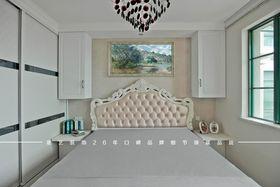 富裕型120平米三室两厅欧式风格卧室图