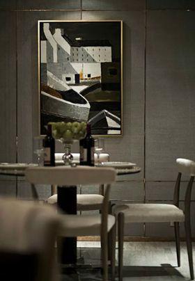 富裕型80平米现代简约风格餐厅图