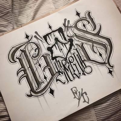奇卡诺字体纹身图-大众点评纹身图案大全