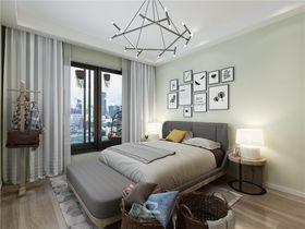 10-15万110平米三室两厅北欧风格卧室设计图