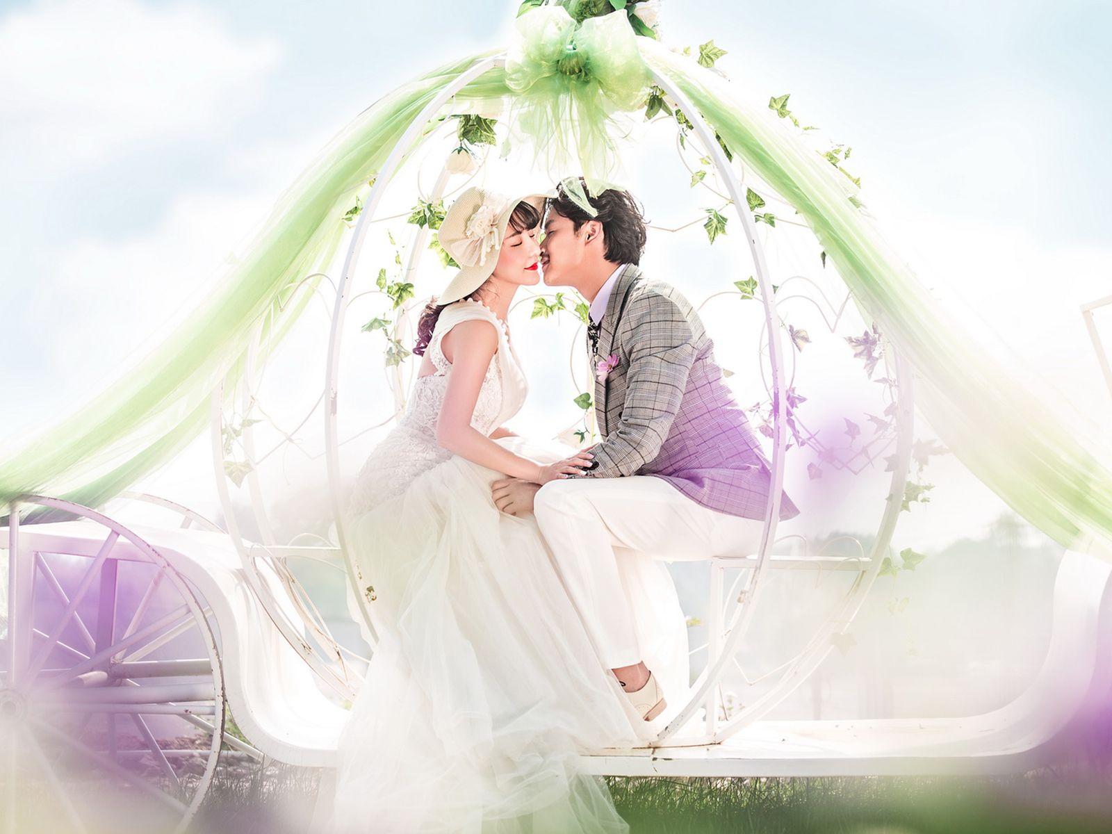 白桦林婚纱摄影