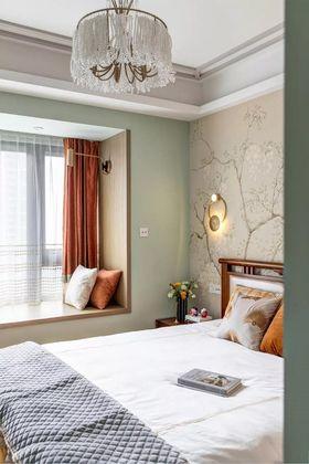 90平米三室两厅美式风格卧室装修效果图