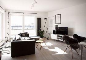 20万以上120平米三室两厅北欧风格客厅图