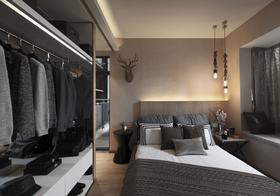 经济型110平米三室一厅现代简约风格衣帽间装修效果图