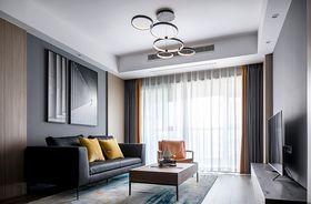 120平米三现代简约风格客厅效果图