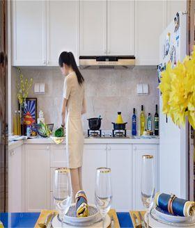 80平米三室两厅田园风格厨房装修案例