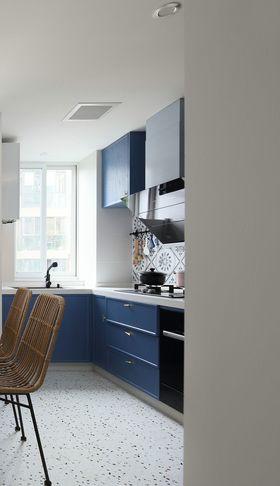 120平米三室一厅混搭风格厨房图片
