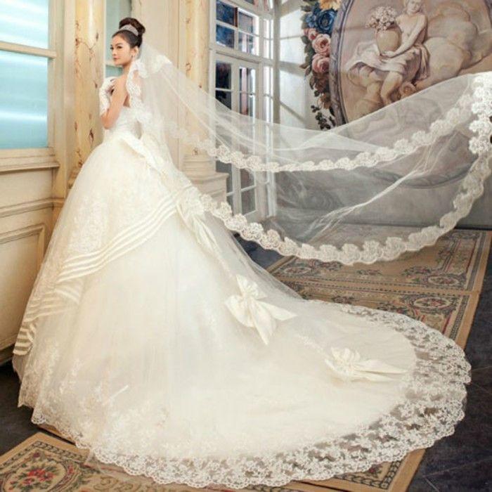 裙摆大的婚纱适合什么人穿