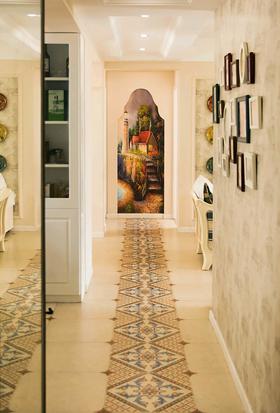 富裕型100平米四室两厅北欧风格走廊设计图