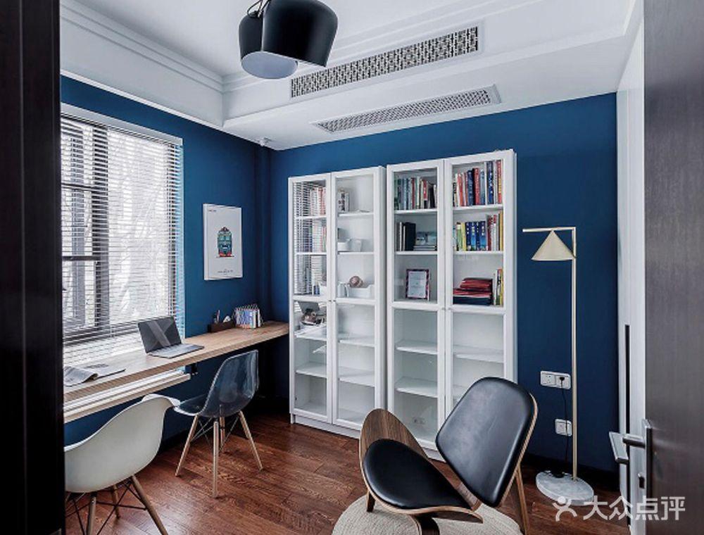 120平米四室两厅混搭风格书房设计图
