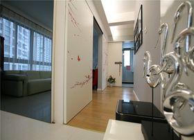 80平米现代简约风格玄关门口设计图