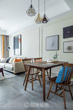 80平米三室两厅现代简约风格餐厅装修效果图