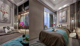 5-10万120平米三室两厅现代简约风格卧室图