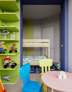 富裕型100平米复式北欧风格儿童房图片大全
