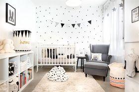 80平米三室一厅现代简约风格儿童房图