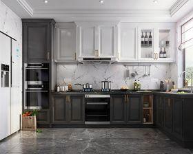80平米现代简约风格厨房设计图