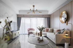 100平米三室一厅混搭风格客厅图
