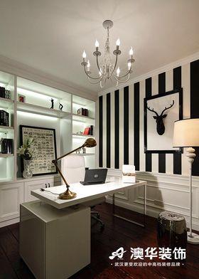 110平米三室两厅混搭风格书房装修图片大全