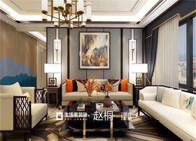 140平米四室两厅中式风格客厅设计图