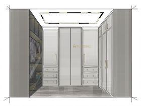 140平米三室两厅北欧风格衣帽间欣赏图
