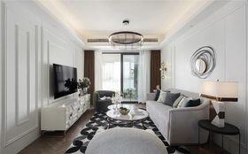 110平米三室两厅法式风格客厅装修案例