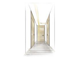 60平米北欧风格走廊图