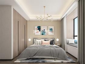 130平米三室兩廳北歐風格臥室欣賞圖