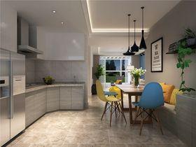 100平米三室一厅北欧风格厨房图片