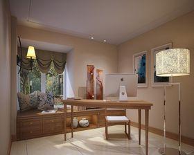 130平米三室两厅中式风格书房图