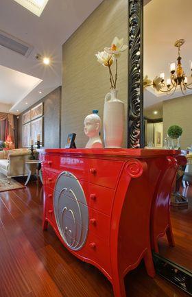 5-10万90平米三室一厅法式风格玄关装修图片大全