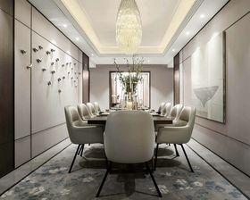 130平米三室两厅现代简约风格餐厅装修效果图