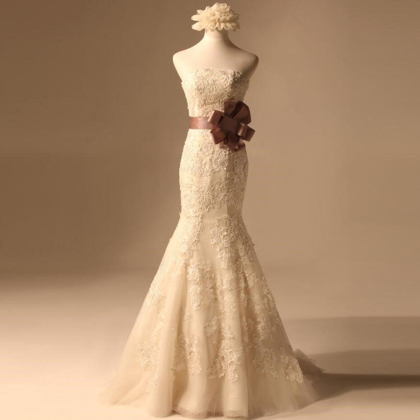 鱼尾婚纱,让你变成最美的新娘