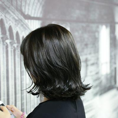 丽人 美发图库 亚麻色系效果图  161 潮流染发 女 短发