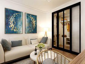110平米三室两厅欧式风格书房图