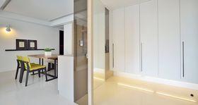 80平米公寓现代简约风格玄关装修效果图