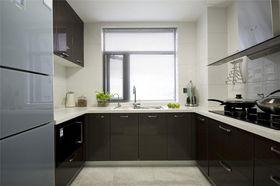 富裕型90平米三室两厅现代简约风格厨房欣赏图